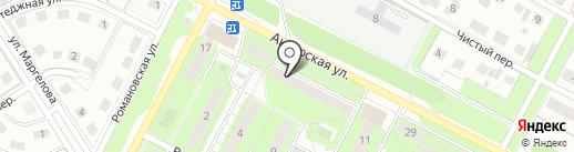 Виссон на карте Липецка