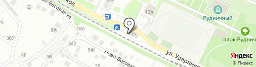 Липецк на карте Липецка