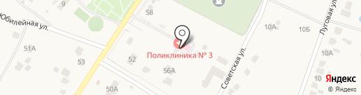 Поликлиника №3 на карте Кузьминских Отвержек