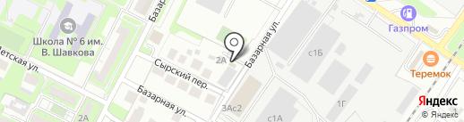 Липецкремстрой на карте Липецка