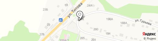 Магазин продовольственных товаров на ул. Гурьева (Ленино) на карте Лениного