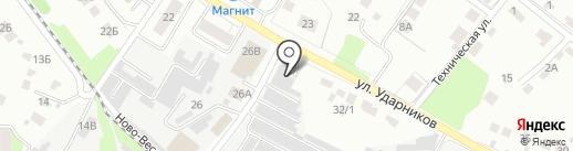 Автомойка на карте Липецка