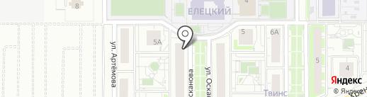 Счастливый малыш на карте Липецка