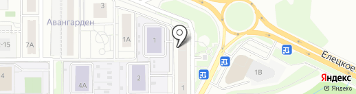 Свежак на карте Липецка