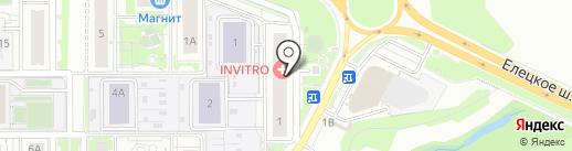 Продуктовый магазин на карте Липецка