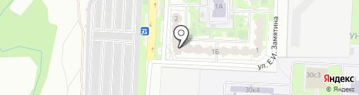 Золотая подкова на карте Липецка