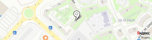 Карьер на карте Липецка