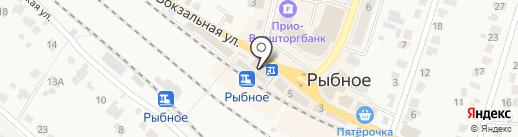 Магазин кондитерский изделий на карте Рыбного