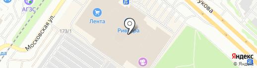 Ривьера на карте Липецка