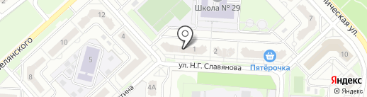 Мастер на карте Липецка
