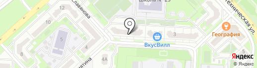 Кренделек на карте Липецка