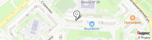 Скороход на карте Липецка