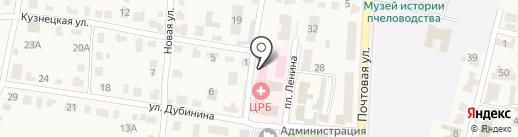 Рыбновская детская поликлиника на карте Рыбного
