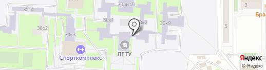 Деловая клякса на карте Липецка