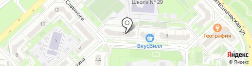 Букетная на карте Липецка