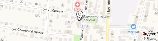 Администрация муниципального образования г. Рыбное на карте Рыбного