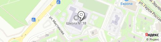 Средняя общеобразовательная школа №18 на карте Липецка