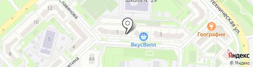 Забава на карте Липецка