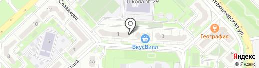 Фрешка на карте Липецка