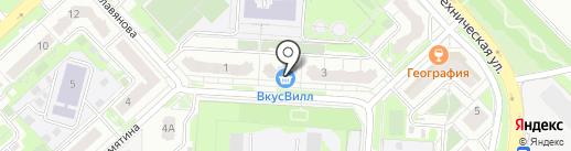 Славянский на карте Липецка