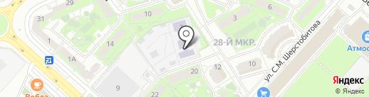 Детский сад №20 на карте Липецка