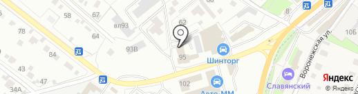 ШинШиныч на карте Липецка