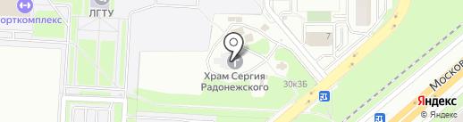 Приход храма преподобного Сергия Радонежского на карте Липецка