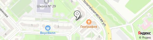 Магазин канцелярских товаров на карте Липецка
