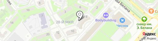 Лаура на карте Липецка
