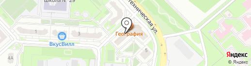 Спутник на карте Липецка