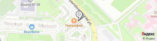 Электрощит на карте Липецка