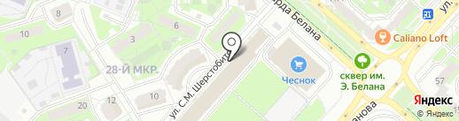 Зов-мебель на карте Липецка