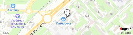 Горгона на карте Липецка