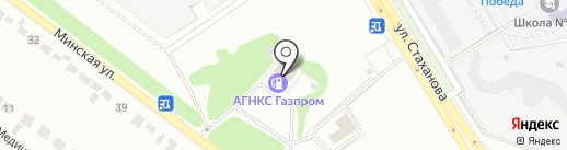 АГНКС Газпром на карте Липецка