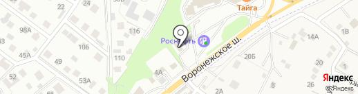 КОНЮШНИ на карте Липецка