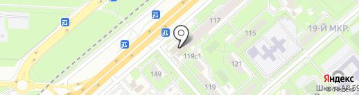 Домашний на карте Липецка