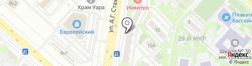 Кормилица на карте Липецка