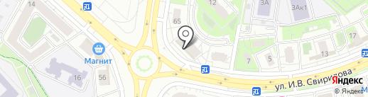 Кадуцей на карте Липецка