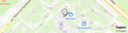 Строчка на карте Липецка