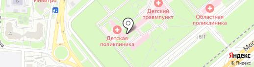 Областная детская больница на карте Липецка