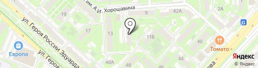 Ромашка на карте Липецка