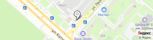 Автосила на карте Липецка