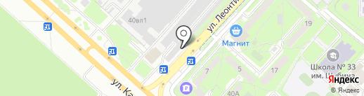 Магазин аккумуляторов на карте Липецка