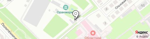 Зеленый сад на карте Липецка