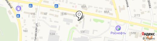 Магазин автотоваров на Ростовской на карте Чалтыря