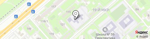 Средняя общеобразовательная школа №59 на карте Липецка