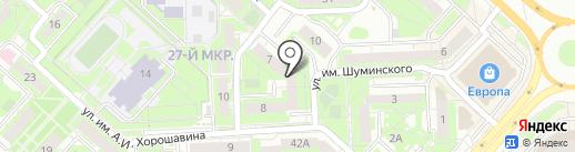 Шампунька на карте Липецка
