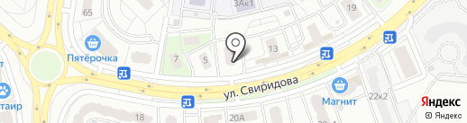 Мишутка на карте Липецка