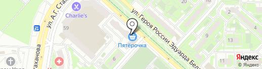 Ксения на карте Липецка