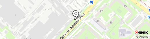 Шинный сервис на карте Липецка